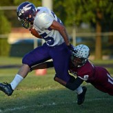 MIPrep Zone football: Wyandotte Roosevelt at Woodhaven Warriors game video Sept. 28th 2012